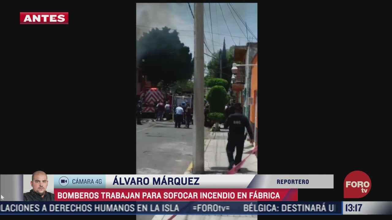 bombero sofocan incendio en bodega de productos de limpieza en la gam