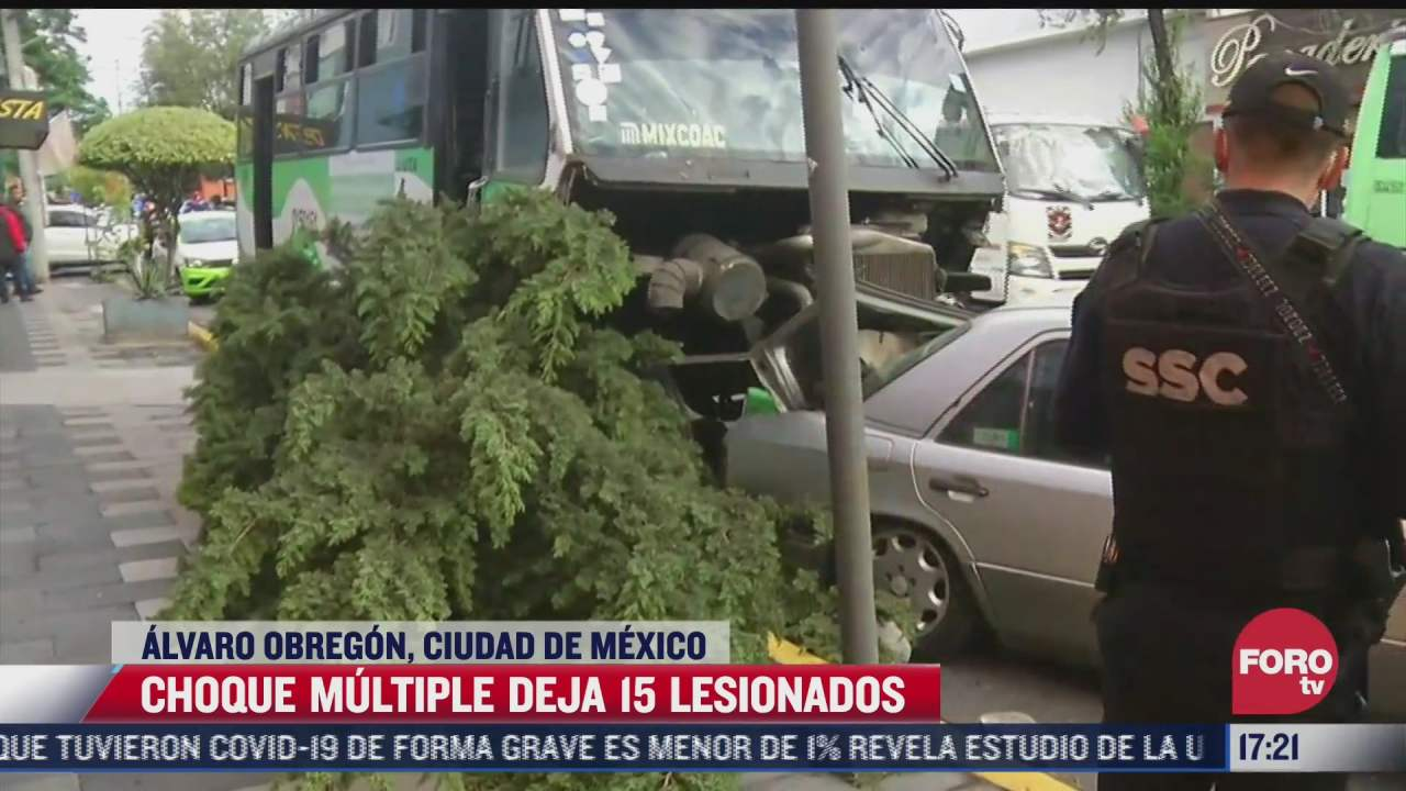 carambola en alcaldia alvaro obregon deja 15 heridos