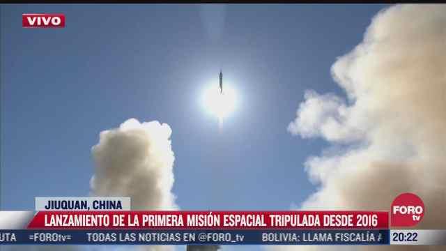 china realiza lanzamiento de la primera mision espacial tripulada
