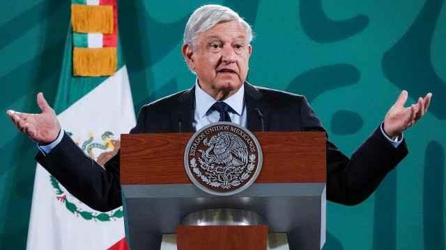 El presidente Andrés Manuel López Obrador durante la conferencia matutina desde Palacio Nacional