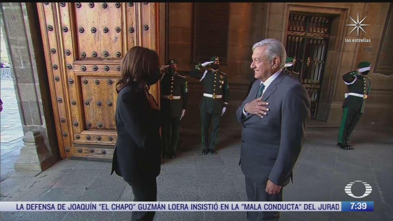 cronica de la visita de kamala harris a mexico