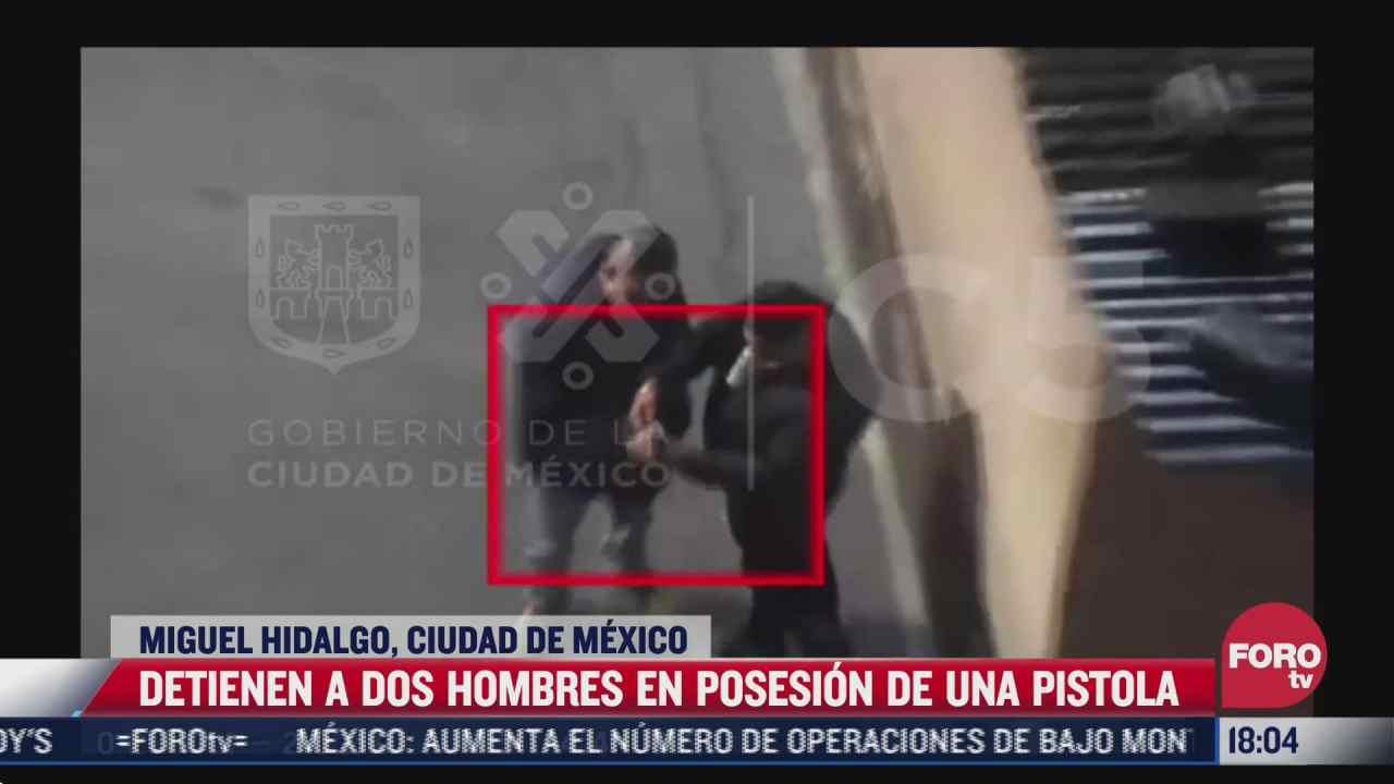 detienen a dos por posesion de arma de fuego en la colonia argentina antigua