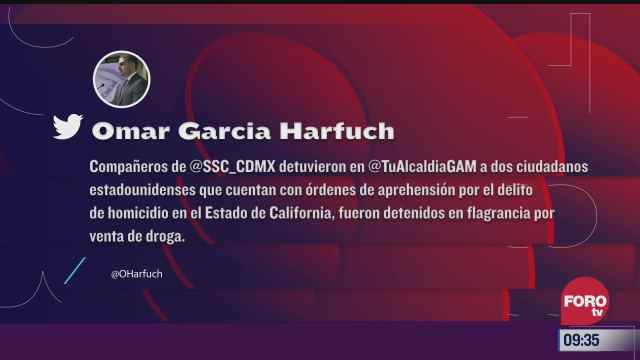 detienen en cdmx a dos estadunidenses por venta de droga
