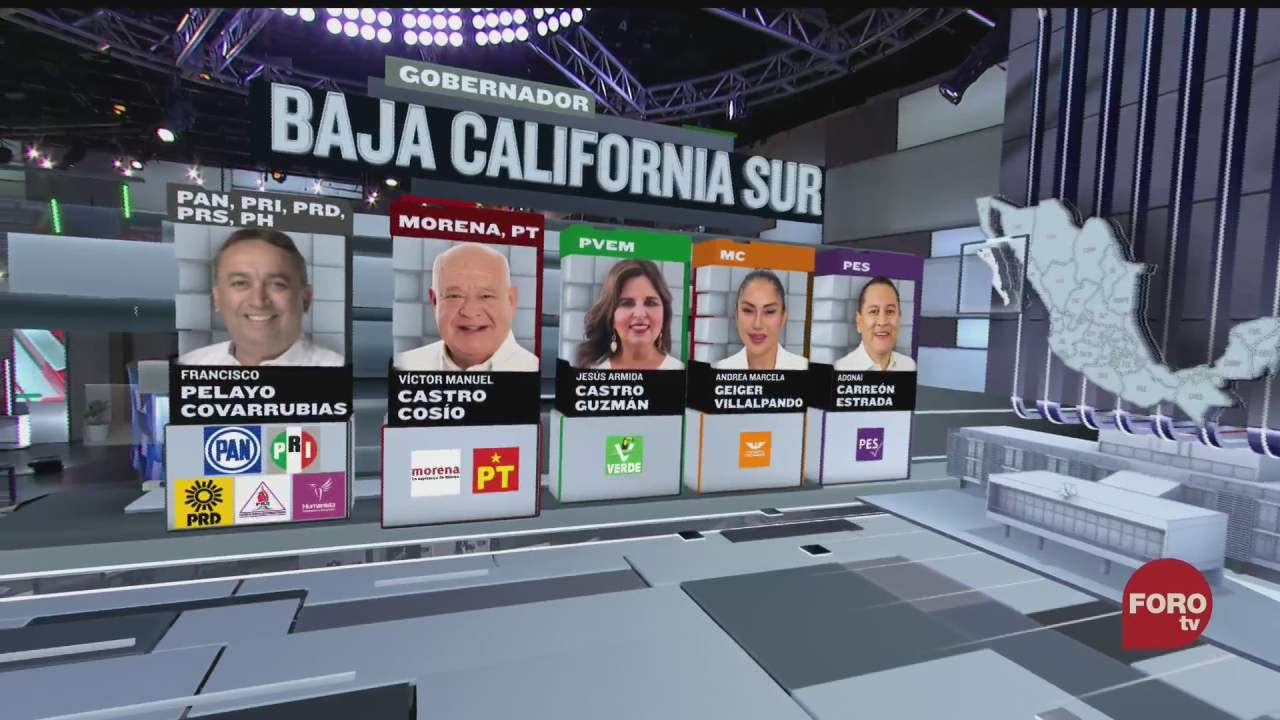 diez candidatos compiten por la gubernatura de baja california