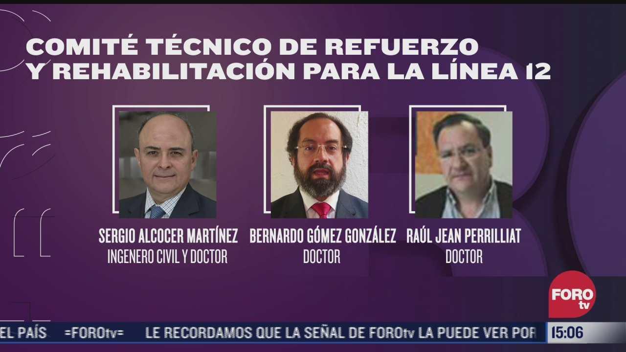 ellos son los seis miembros del comite tecnico de refuerzo y rehabilitacion para la l12 del metro