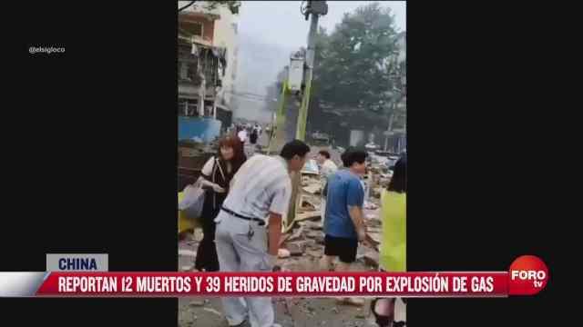 explosion de gas en china deja 12 muertos