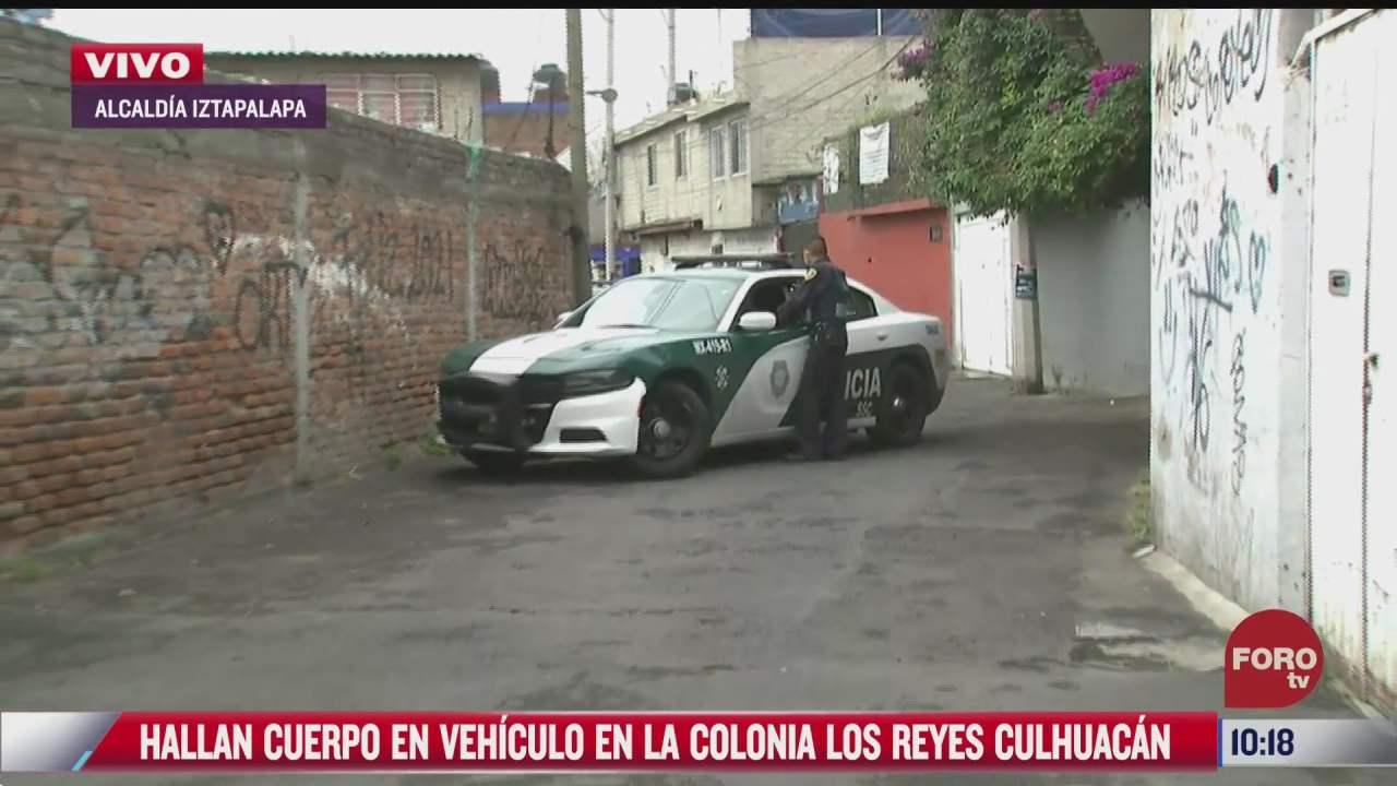 hallan cuerpo en vehiculo en colonia los reyes culhuacan en la alcaldia iztapalapa