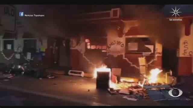 incendian ayuntamiento de progreso en hidalgo y ssp municipal por muerte de la doctora bety