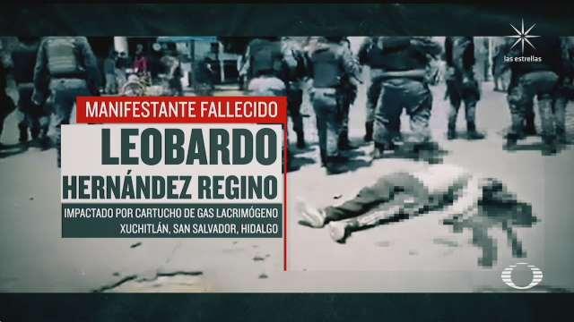 investigan muerte de manifestante en hidalgo como homicidio culposo