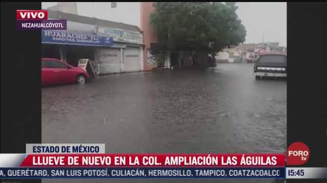 llueve de nuevo en la colonia ampliacion las aguilas tras desazolve de calles