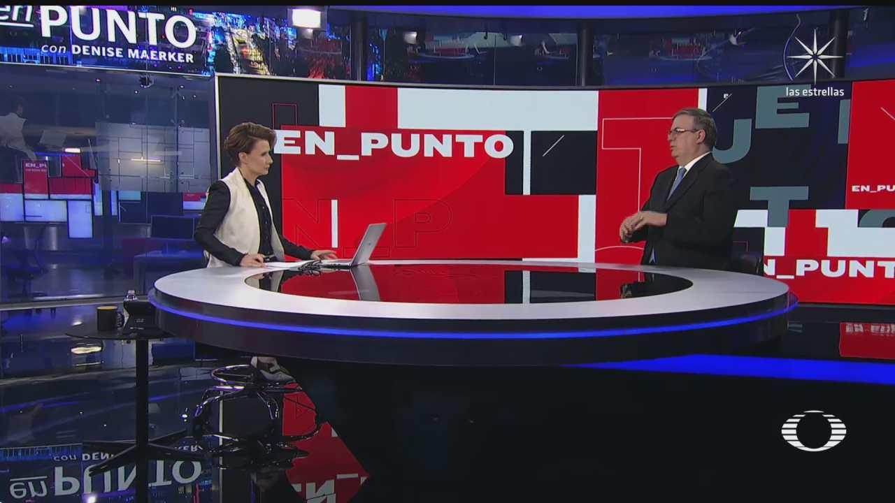 Denise Maerker Entrevista a Marcelo Ebrard sobre visita a México Kamala Harris