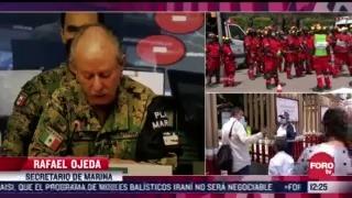 marina recuenta elementos para atender emergencias en el marco del simulacro nacional