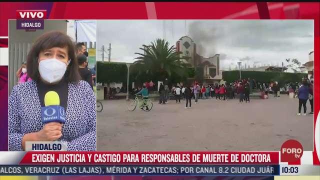 medicos alistan manifestacion para exigir justicia por muerte de doctora beatriz hernandez