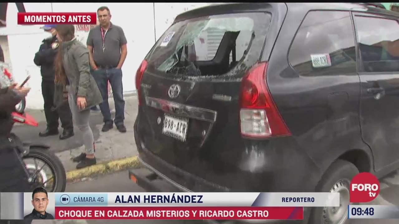 motociclista choca contra camioneta en colonia peralvillo cdmx