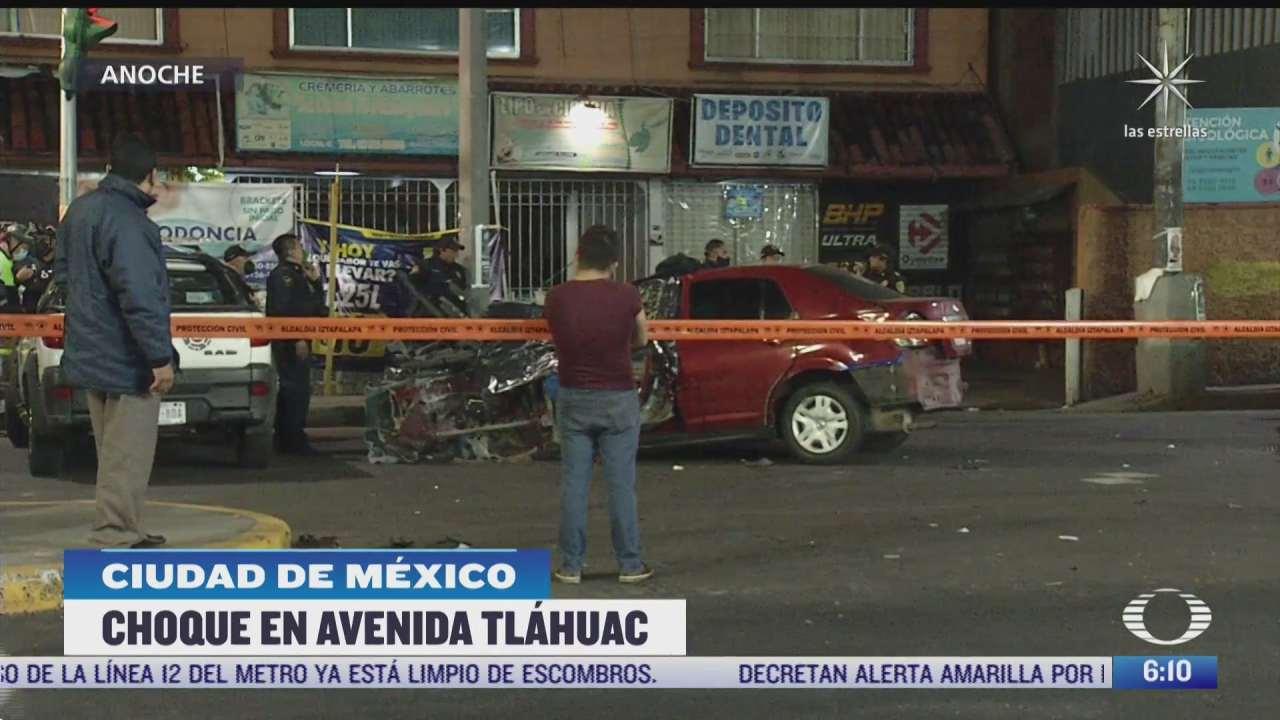 muere mujer en accidente automovilistico en avenida tlahuac cdmx