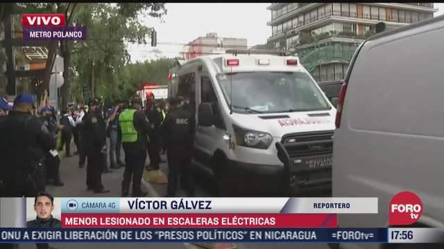 nino de 4 anos sufre fractura en la mano en escaleras electricas del metro polanco