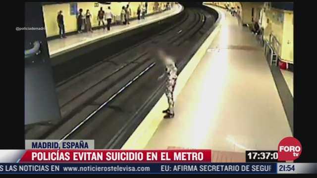policias evitan suicidio en el metro de madrid