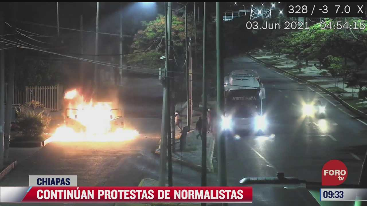 presuntos normalistas vandalizan el iepc en chiapas