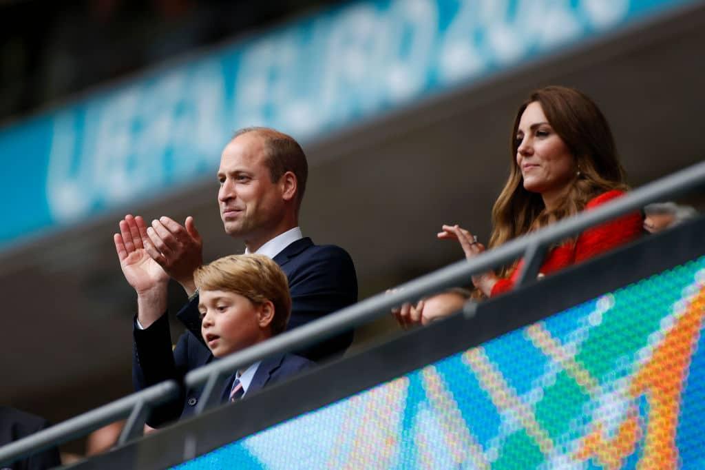 Príncipe George en partido de Inglaterra en la Euro 2020