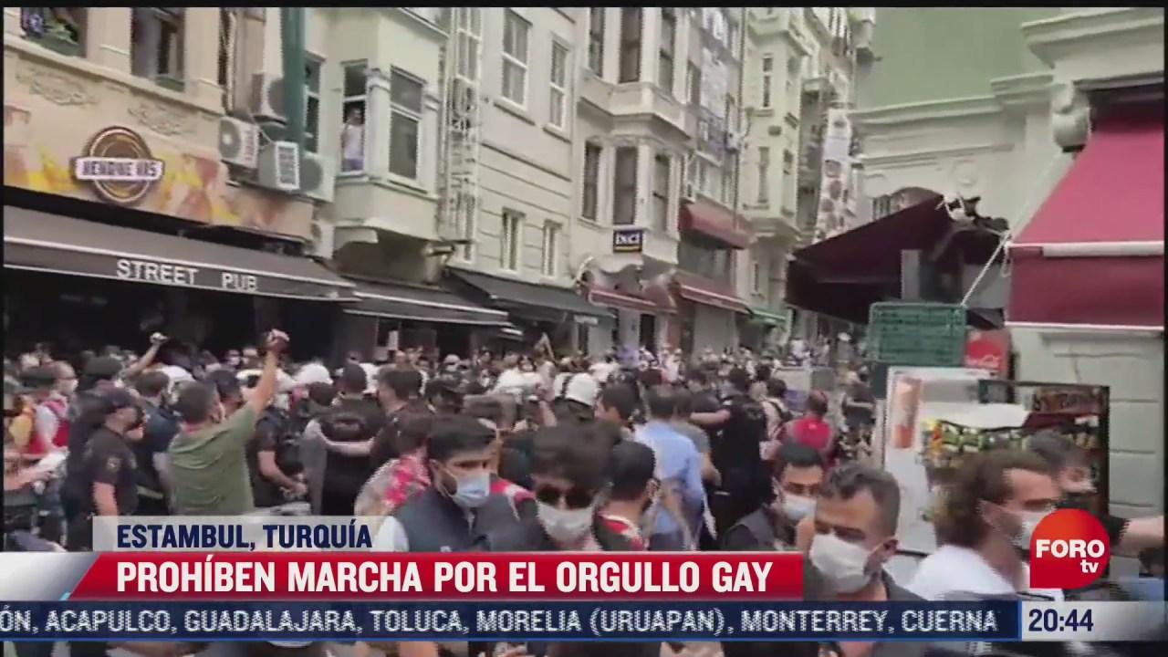prohiben marcha por el orgullo gay en estambul turquia