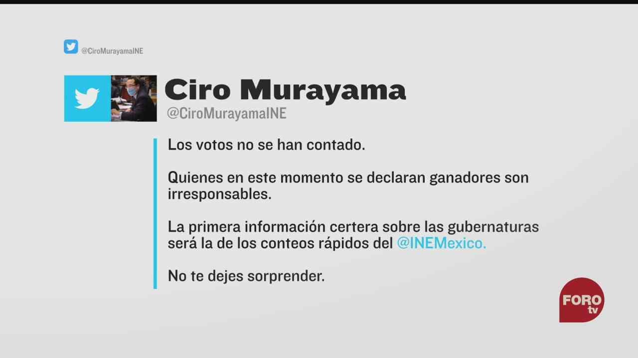 quienes se declaran ganadores son irresponsables ciro murayama consejero del ine