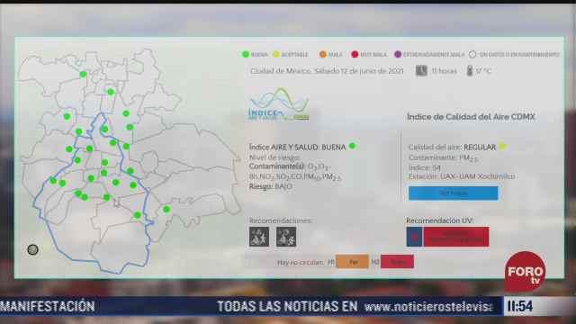 reportan buena calidad del aire en el valle de mexico