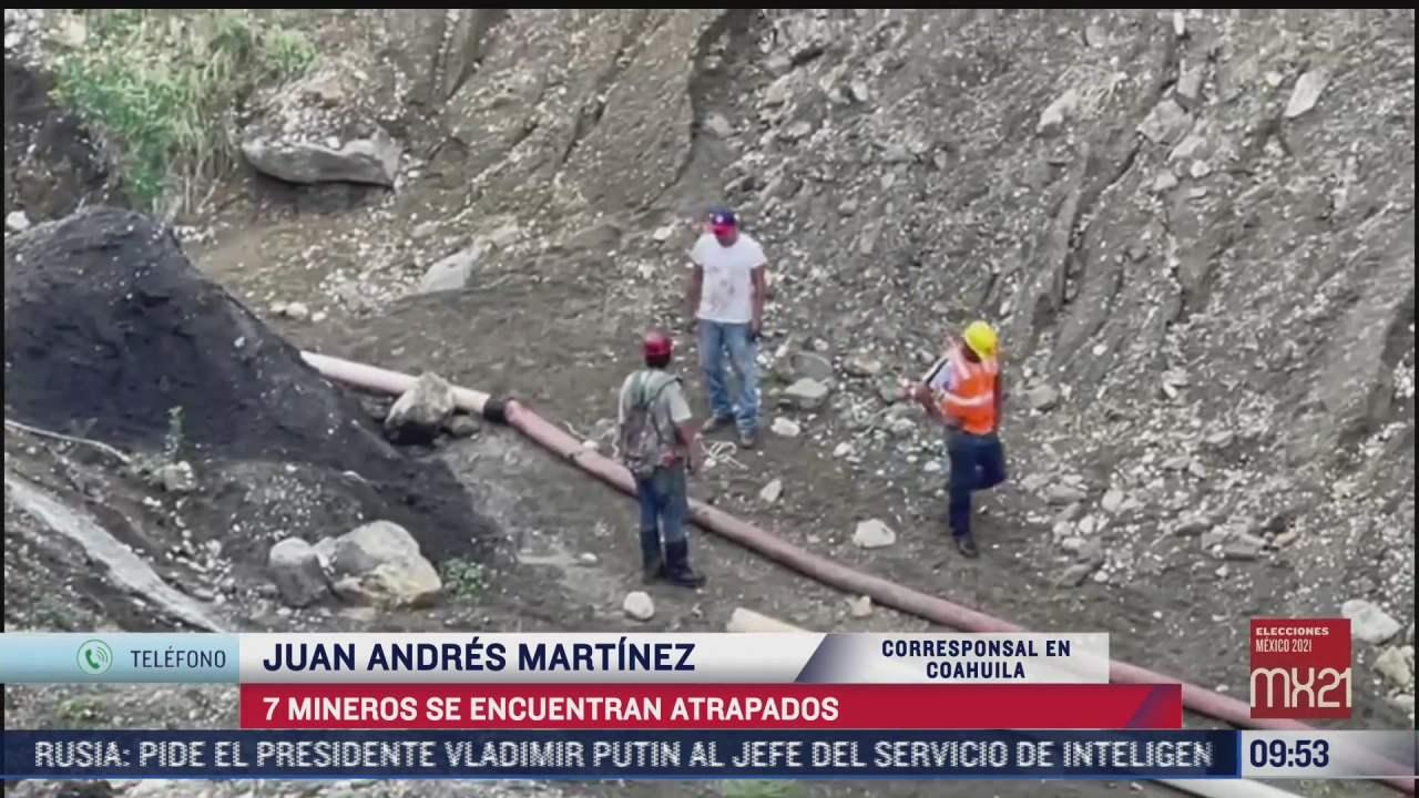 reportan tres mineros fallecidos de los siete atrapados en coahuila
