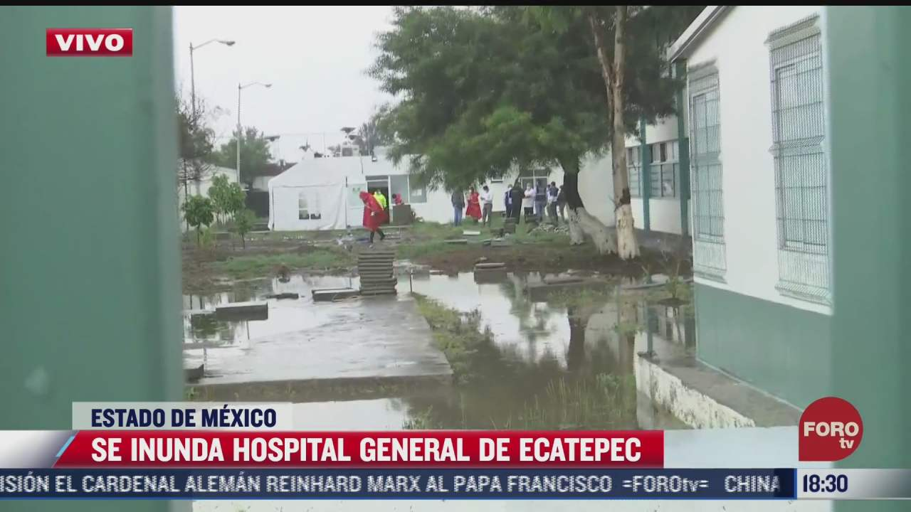 se inunda hospital general de ecatepec