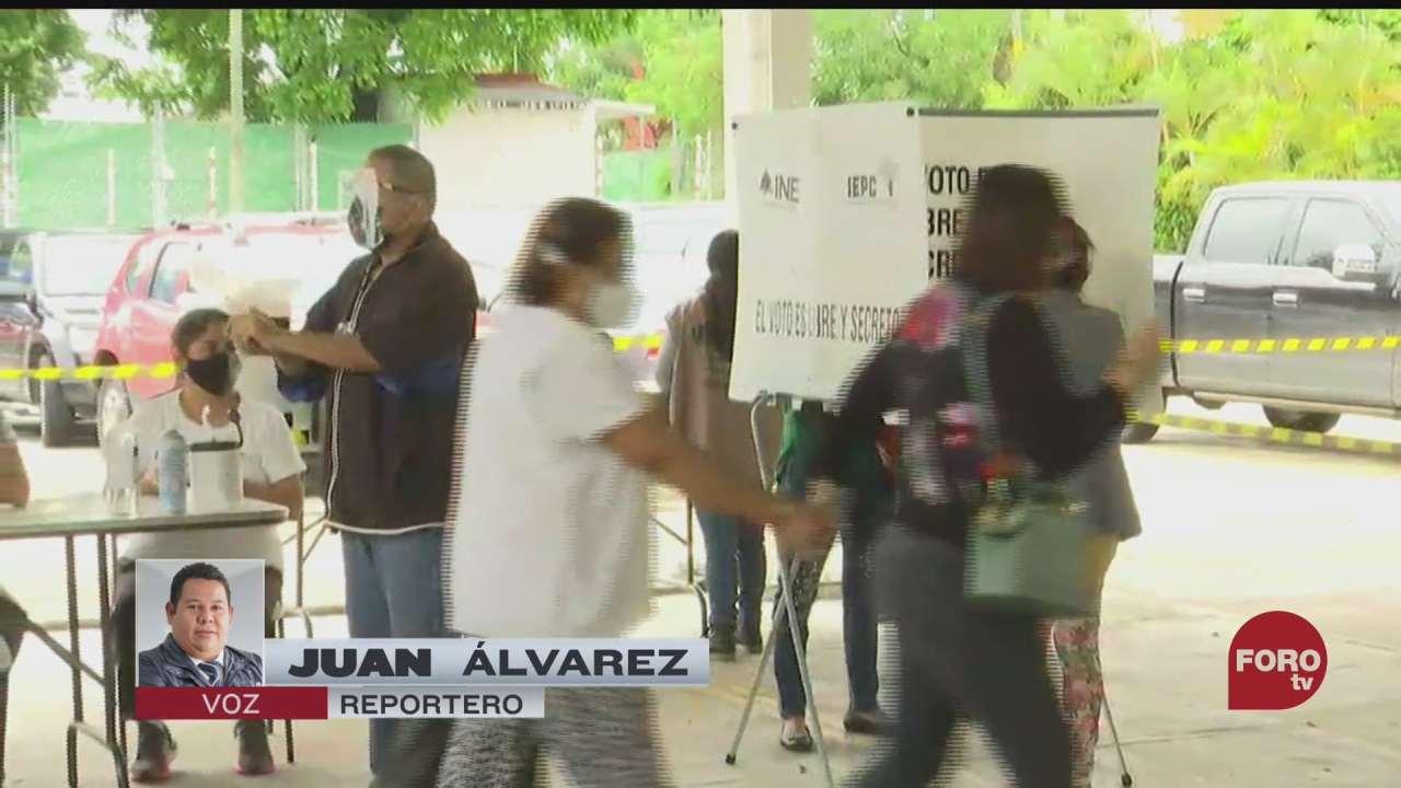 se registra alta afluencia de personas para votar en chiapas