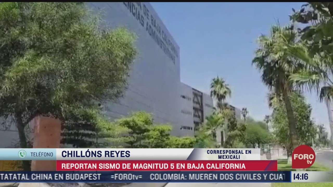 se registra sismo en baja california