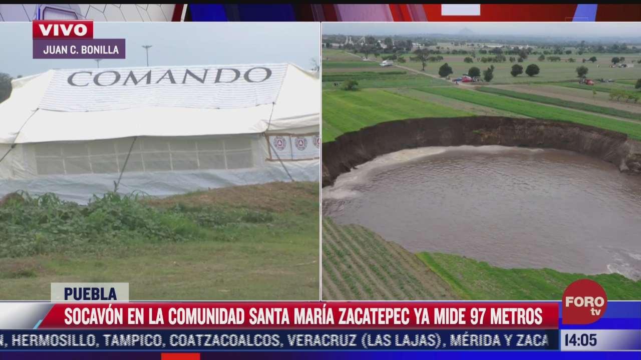 socavon en santa maria zacatepec puebla continua creciendo