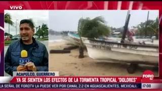 tormenta tropical dolores causa fuertes lluvias al tocar tierra en mexico