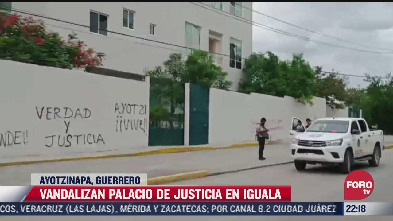 vandalizan palacio de justicia en iguala guerrero