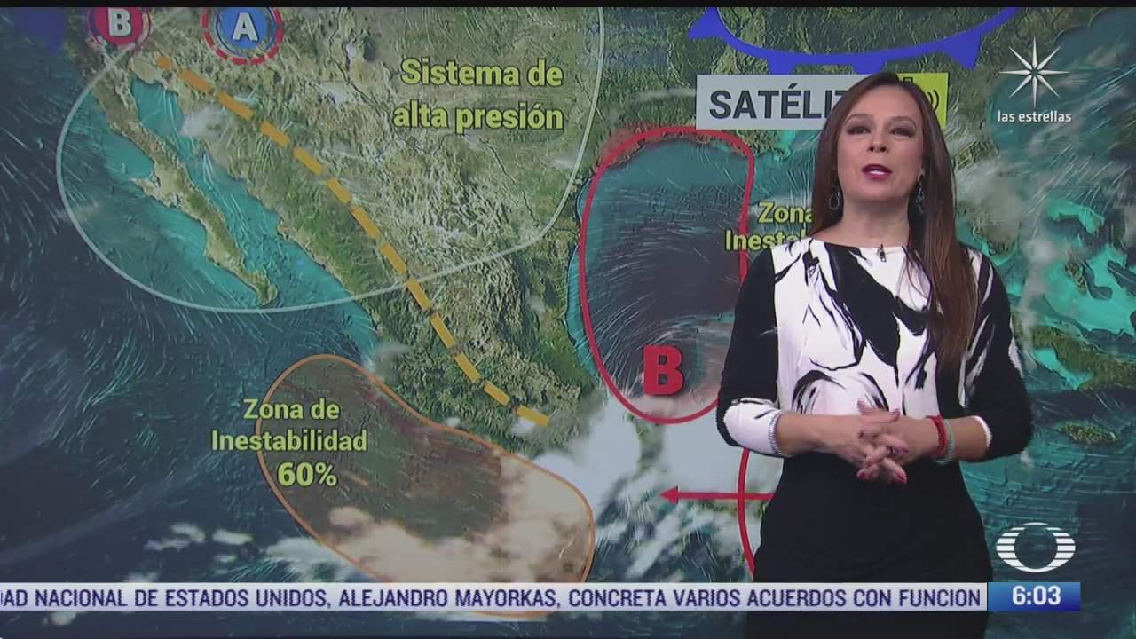 zona de baja presion provocara lluvias en veracruz oaxaca tabasco y chiapas