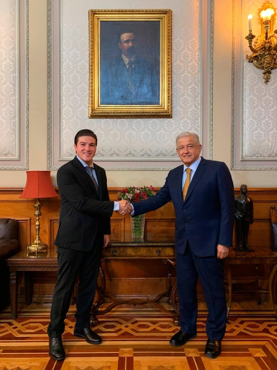 Samuel García, gobernador electo de Nuevo León, acudió a Palacio Nacional para sostener una reunión a puerta cerrada con el presidente Andrés Manuel López Obrador