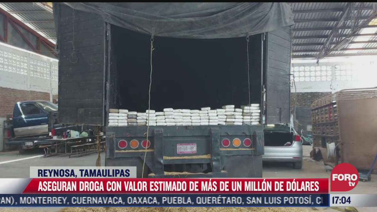 aseguran camion con 114 kilos de cocaina en tamaulipas