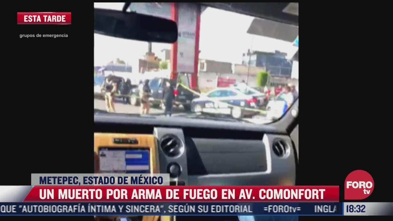 asesinan a hombre en las inmediaciones de centro comercial en metepec