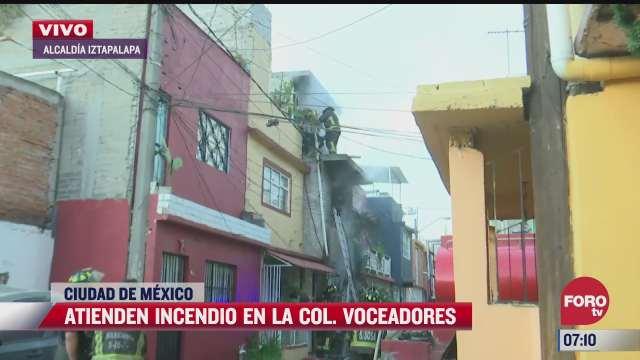 bomberos atienden incendio en casa de la colonia voceadores cdmx
