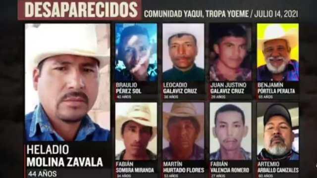 Buscan a nueve Yaquis desaparecidos en Loma de Bácum, Sonora