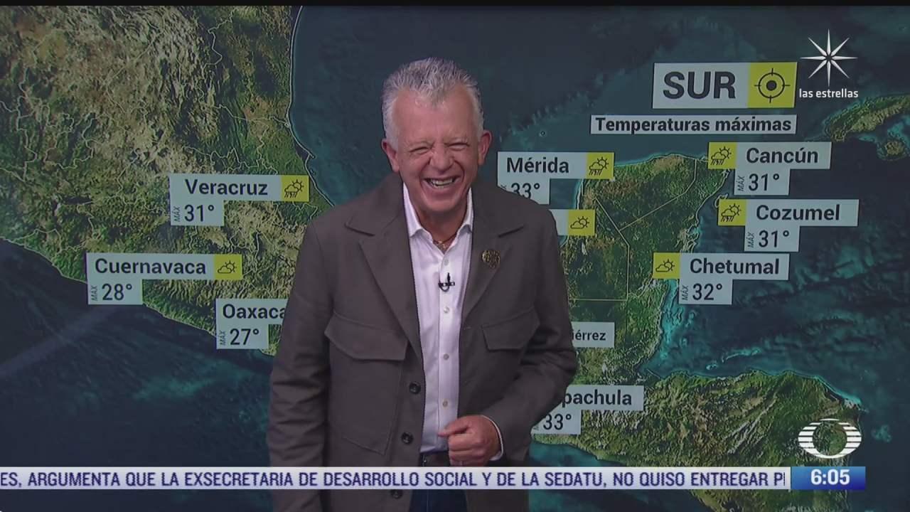 canal de baja presion provocara lluvias fuertes en mexico