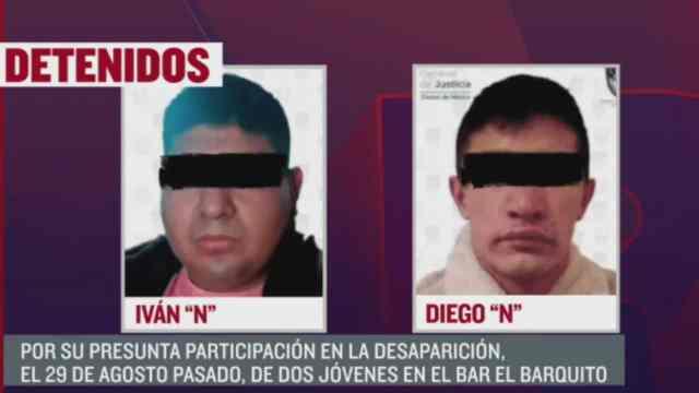 Capturan a Iván 'N', dueño de bar presuntamente vinculado a desaparición de dos jóvenes en 2020