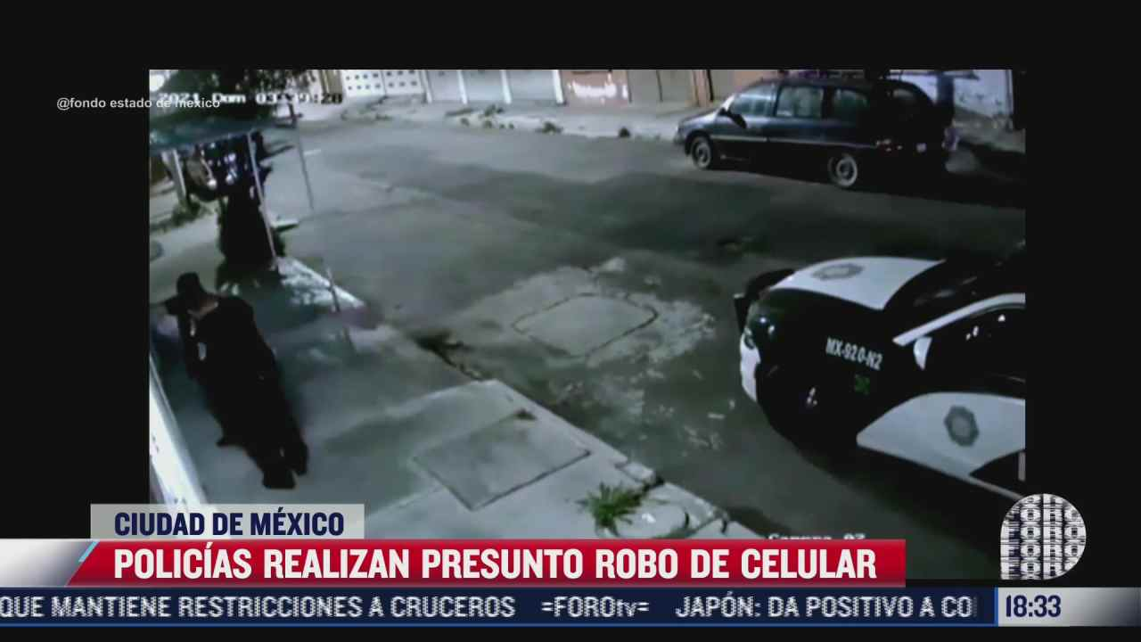 denuncian a policias por robarle celular a hombre alcoholizado