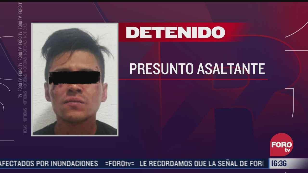 detienen a presunto asaltante de empleado de mensajeria en chimalhuacan