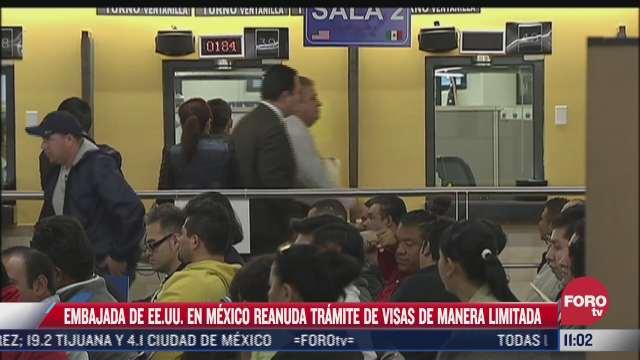 embajada de eeuu reanuda tramite de visas