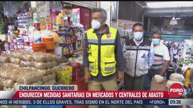 endurecen medidas sanitarias en mercados de guerrero por incremento de casos covid