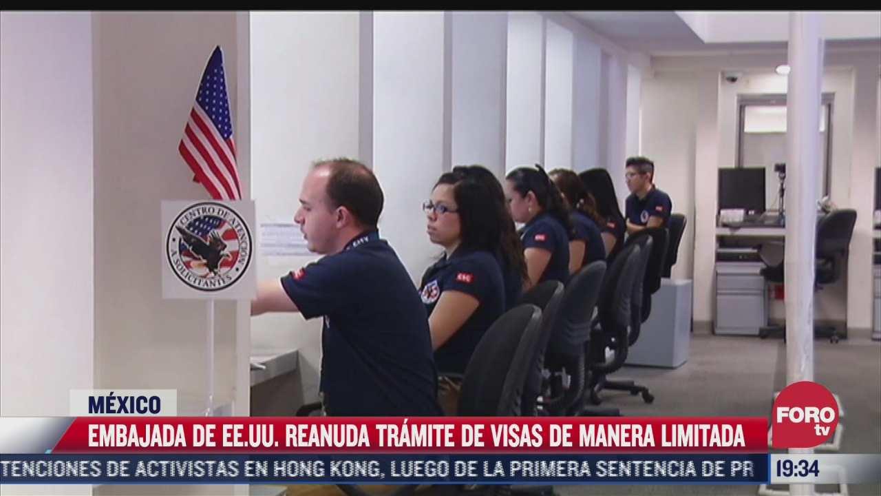 estados unidos reanuda tramites para visas