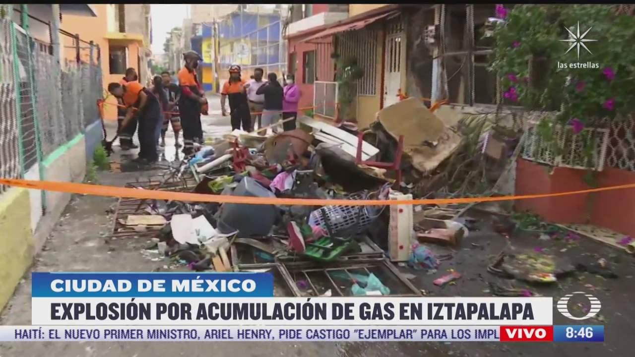 explosion de tanques de gas deja dos lesionados en iztapalapa