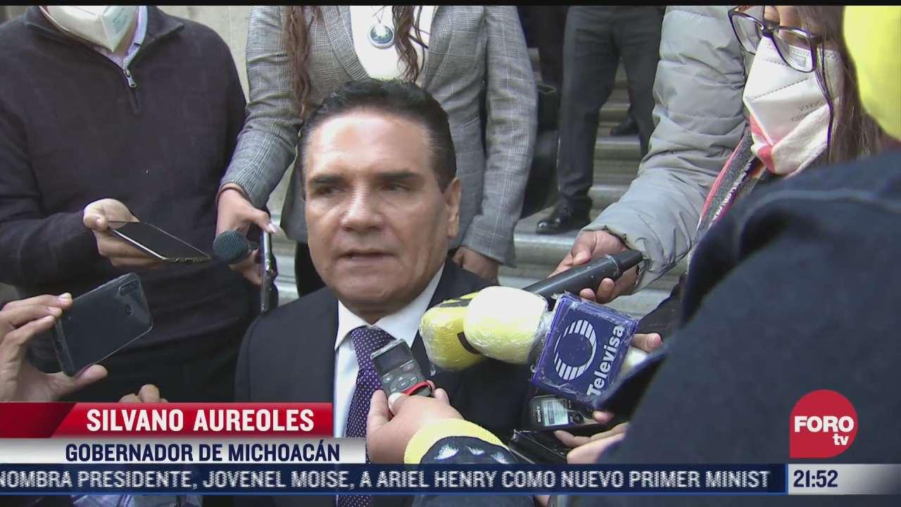 gertz manero recibio al gobernador de michoacan silvano aureoles