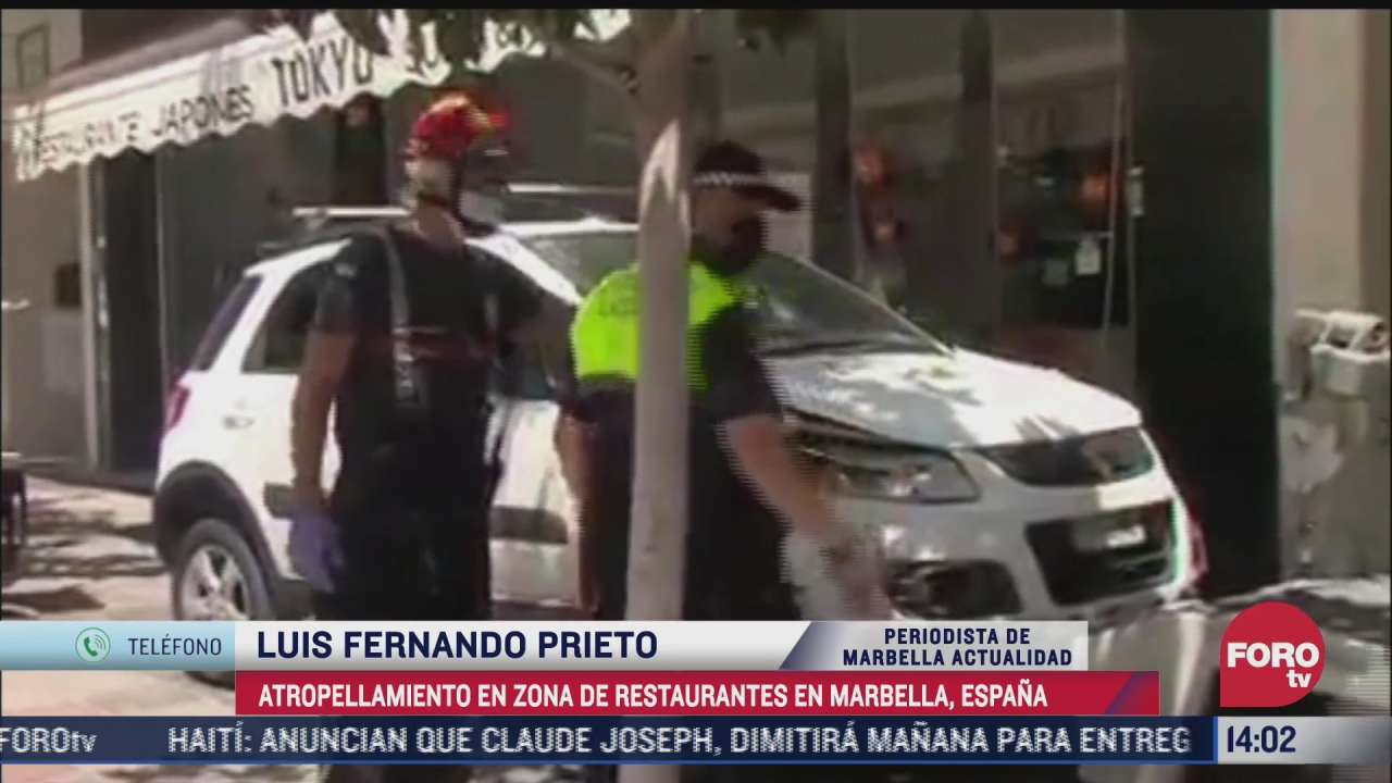 hombre atropella a 11 personas en la zona restaurantera de marbella espana
