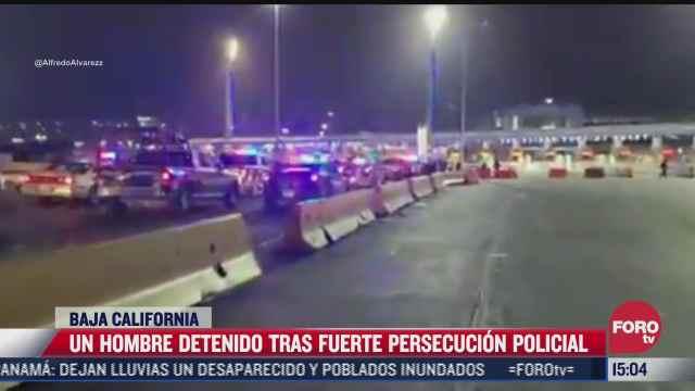hombre ebrio provoca persecucion policial en baja california
